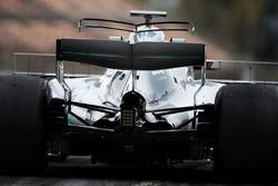 Lewis Hamilton, Mercedes AMG F1 W08 T-wing detail
