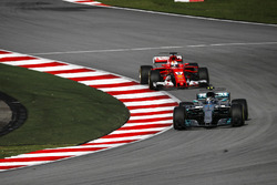Valtteri Bottas, Mercedes-Benz F1 W08 and Sebastian Vettel, Ferrari SF70H