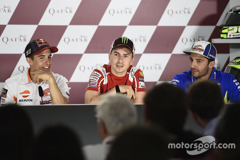 Marc Marquez, Repsol Honda Team, Jorge Lorenzo, Ducati Team, Andrea Iannone, Team Suzuki MotoGP