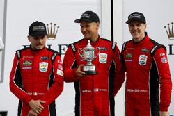 Podium GTLM: third place #62 Risi Competizione Ferrari 488 GTE: Toni Vilander, Giancarlo Fisichella, James Calado