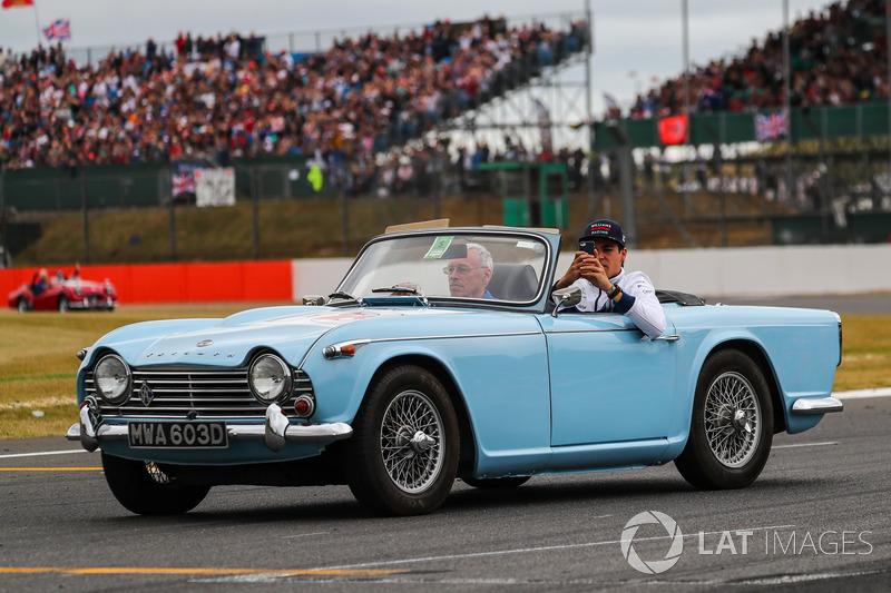 Lance Stroll, Williams en el desfile de pilotos