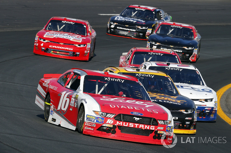 Ryan Reed, Roush Fenway Racing Ford and Brendan Gaughan, Richard Childress Racing Chevrolet
