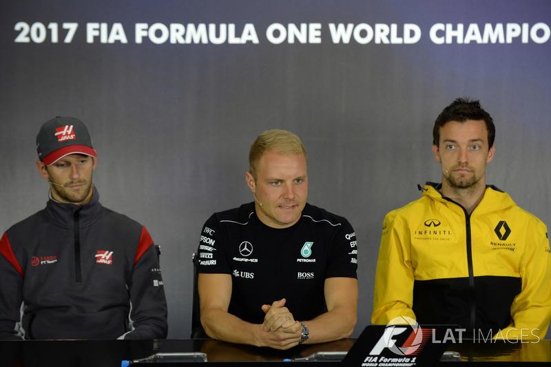 Ромен Грожан, Haas F1, Валттері Боттас, Mercedes AMG F1, Джоліон Палмер, Renault Sport F1 Team
