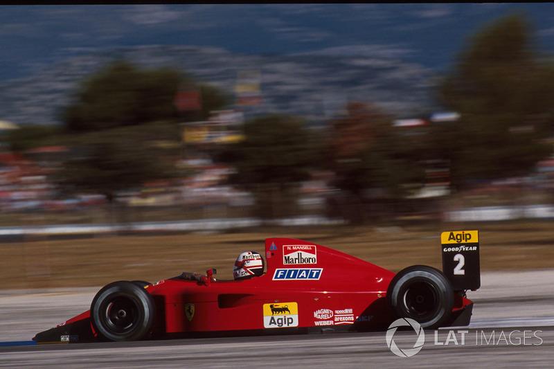 #8: Nigel Mansell, Ferrari 641, Le Castellet 1990: 1:04,402