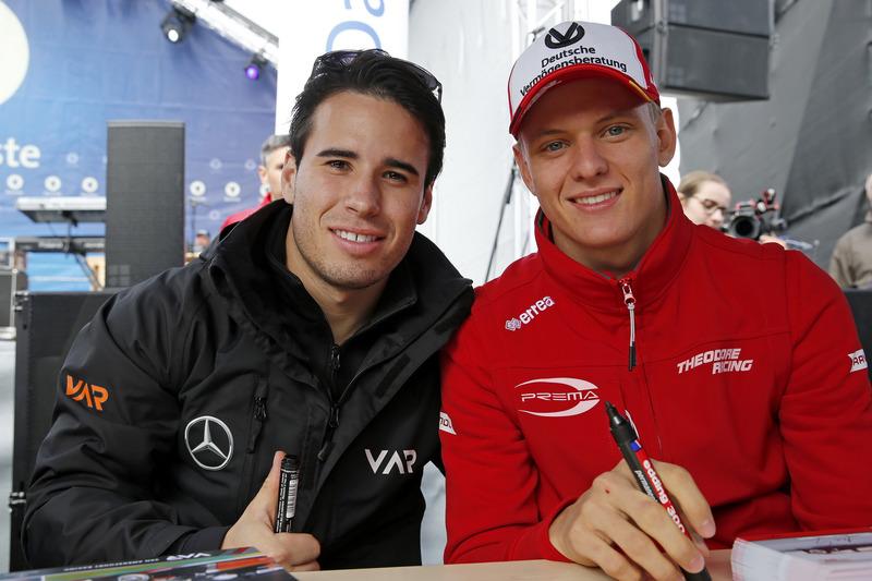 Joey Mawson, Van Amersfoort Racing, Dallara F317 - Mercedes-Benz, Mick Schumacher, Prema Powerteam, Dallara F317 - Mercedes-Benz