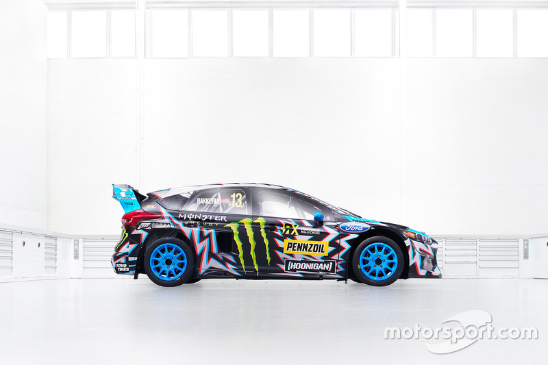 The car of Andreas Bakkerud, Hoonigan Racing Division, Ford Focus