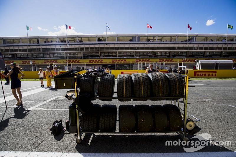 Pirelli tyres on the grid