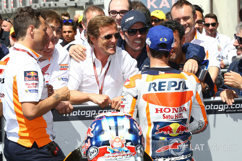 Sete Gibernau, third place Dani Pedrosa, Repsol Honda Team