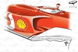 Ferrari F2003-GA sidepod
