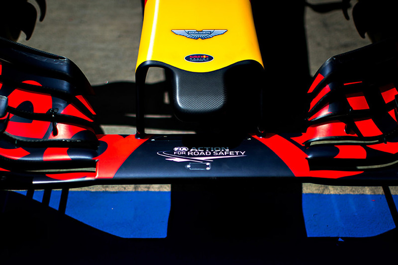 Le logo Aston Martin sur la Red Bull Racing RB12