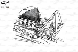 McLaren M23 1974 engine intake detail