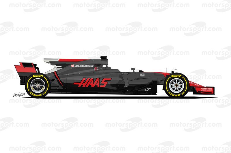 Так Haas VF-17 выглядела до Гран При Монако