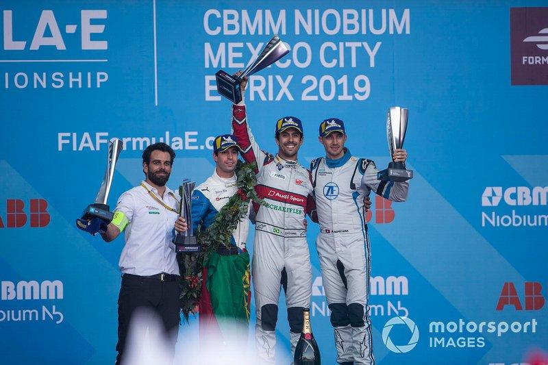 Podio: Ganador de la carrera Lucas Di Grassi, Audi Sport ABT Schaeffler, 2º Antonio Felix da Costa, BMW I Andretti Motorsports, 3º Edoardo Mortara, Venturi Formula E