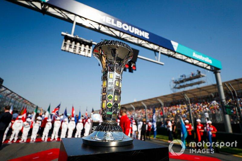 El trofeo e Constructores de la F1