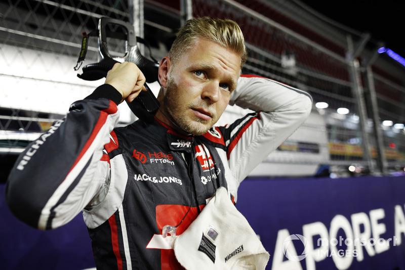 Kevin Magnussen, Haas F1 Team, sur la grille