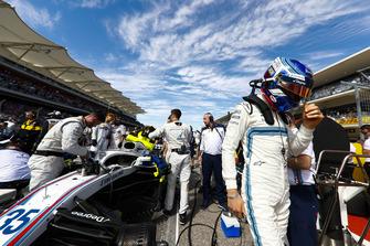 Sergey Sirotkin, Williams Racing, arriva in griglia di partenza