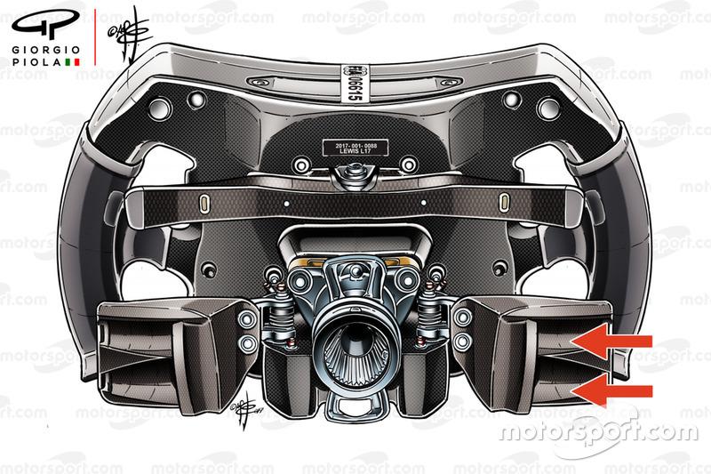 Volante de Lewis Hamilton en el Mercedes AMG F1 W08
