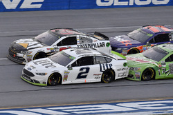 Brad Keselowski, Team Penske Ford, Ryan Newman, Richard Childress Racing Chevrolet, Dale Earnhardt Jr., Hendrick Motorsports Chevrolet, and Denny Hamlin, Joe Gibbs Racing Toyota