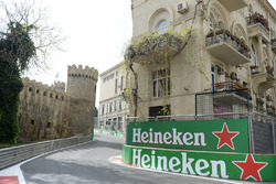 Track view and Heineken signage