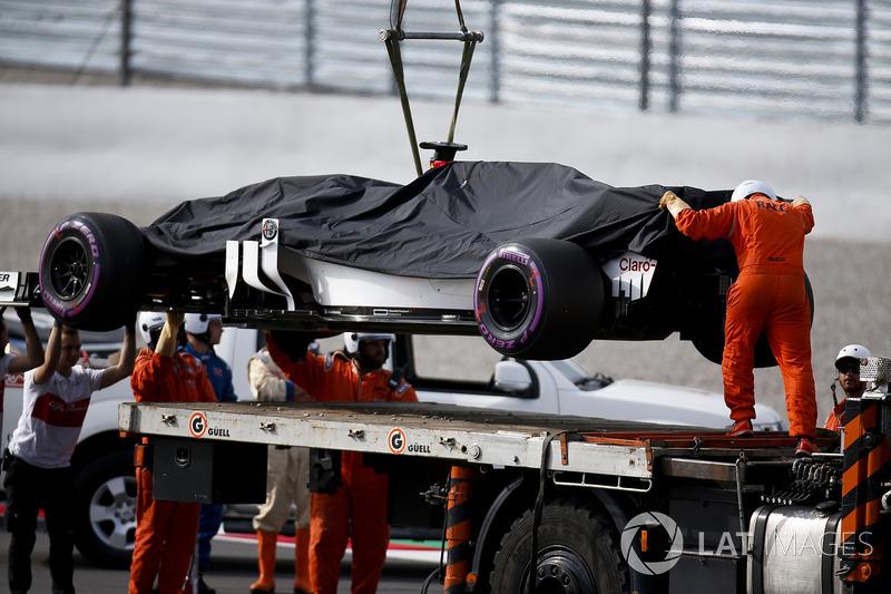 Antonio Giovinazzi, Sauber C37, terhenti di lintasan