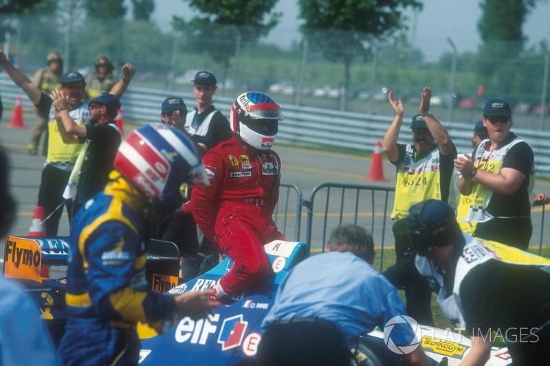 Montreal 1995 : Michael Schumacher (Benetton) - Jean Alesi (Ferrari)