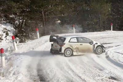 Toyota Yaris WRC Plus Monte Carlo testing
