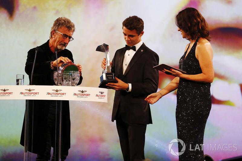 Lando Norris fue el ganador del premio al piloto británico del año