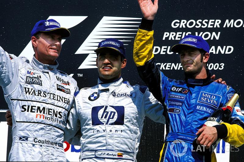 2003: 1. Хуан-Пабло Монтойя, 2. Дэвид Култхард, 3. Ярно Трулли