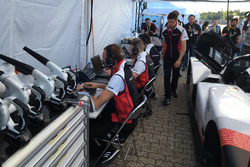 Porsche team members at work
