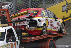Fabian Coulthard, Team Penske Ford car after his crash