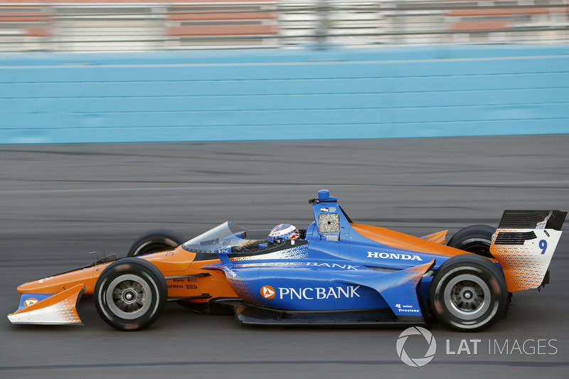 Скотт Діксон, Chip Ganassi Racing Honda, тестує aeroscreen