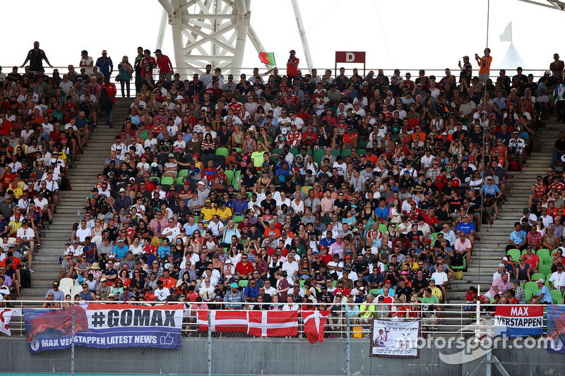 Fans in the grandstand