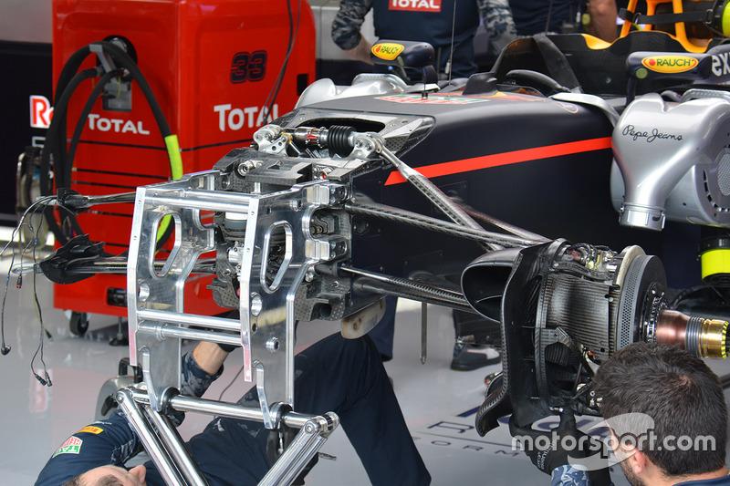 Red Bull RB12: Vorderradaufhängung