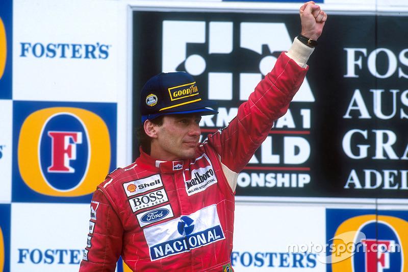 Podyum: 1. Ayrton Senna, McLaren
