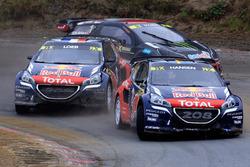 Timmy Hansen, Team Peugeot Hansen and Sébastien Loeb, Team Peugeot Hansen