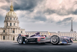 Jean-Eric Vergne, DS Virgin Racing rendering in Paris