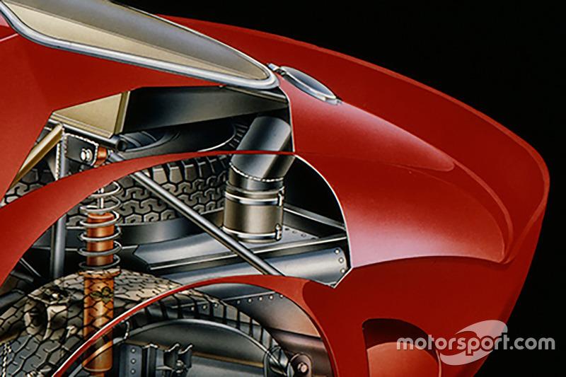 Ferrari 250 GTO, spaccato