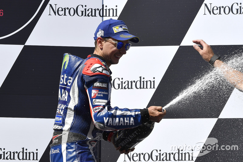 Il terzo classificato Jorge Lorenzo, Yamaha Factory Racing