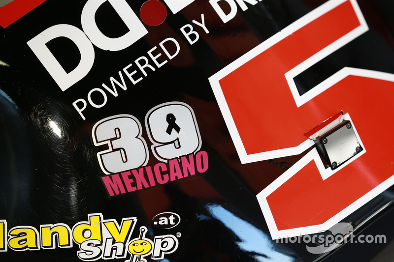 Luis Salom, SAG Racing Team, adesivo di tributo