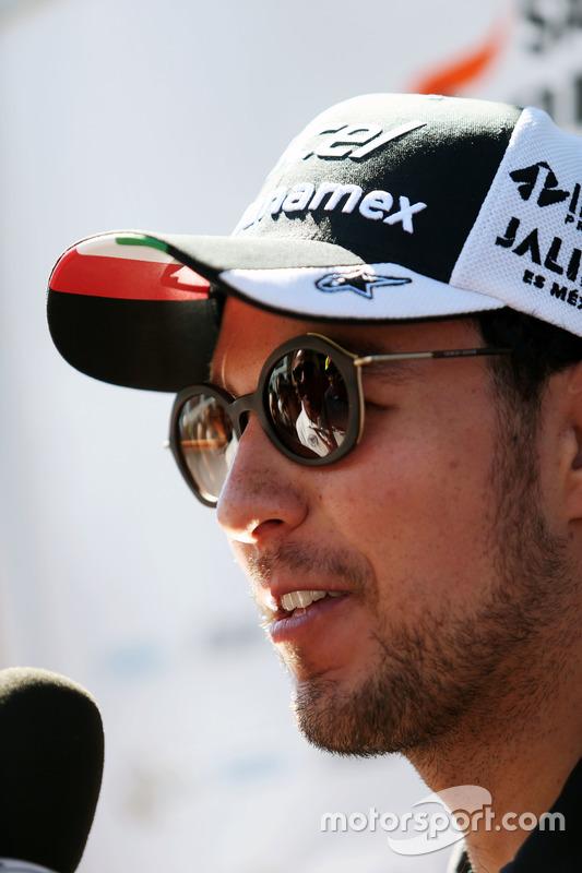 Sergio Perez, Sahara Force India F1 con i media