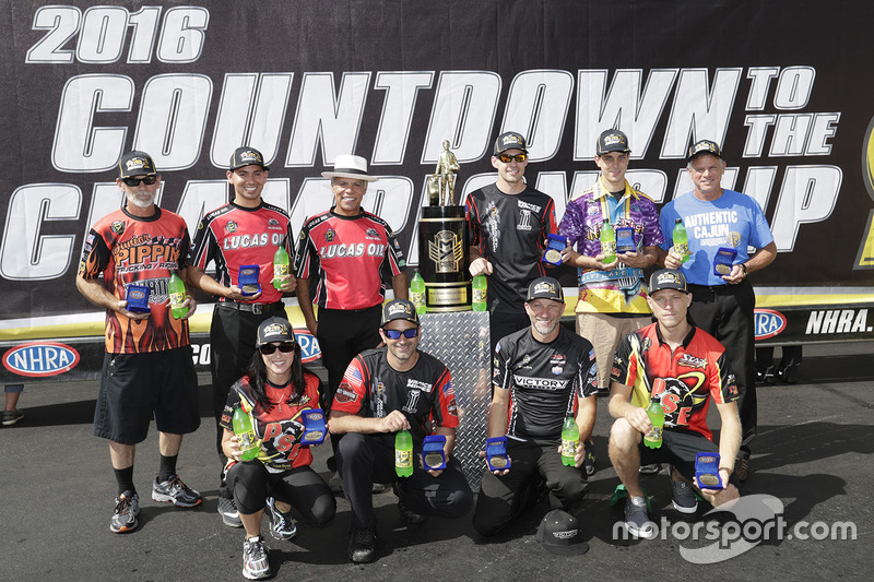 The 10 Pro Stock Bike riders in the countdown