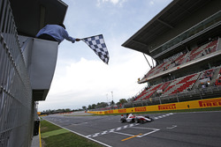 Charles Leclerc, ART Grand Prix, takes the chequered flag