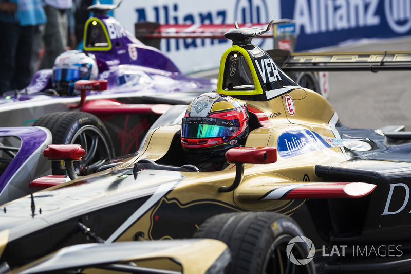 Jean-Eric Vergne, Techeetah, e Sam Bird, DS Virgin Racing