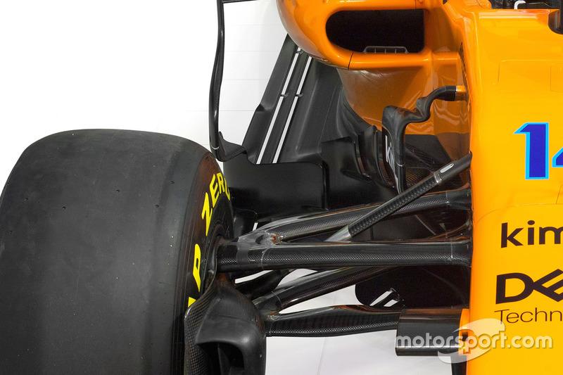 McLaren MCL33, dettaglio del sidepod