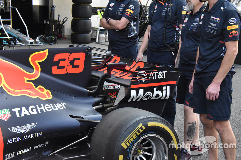 Trasera del Red Bull Racing RB13