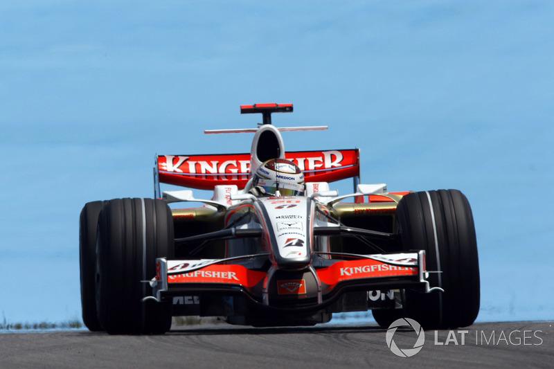 2. Adrian Sutil, 128 GPs (2006-2011, 2013-2014), o melhor resultado é o 4° lugar na Itália 2009.