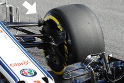 Sauber C37 fin detail