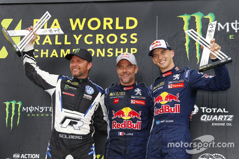 Победитель Себастьен Лёб, Team Peugeot Total, второе место – Петтер Сольберг, PSRX Volkswagen Sweden, третье место – Тимми Хансен, Team Peugeot Total