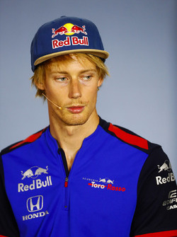 Brendon Hartley, Toro Rosso, in the Press conference