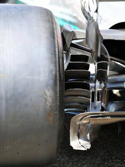 Mercedes-AMG F1 W09, dettaglio del brake duct posteriore